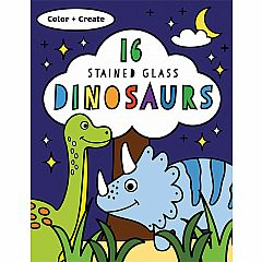 STAINED GLASS COLOR DINOSAURS