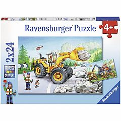 DIGGERS AT WORK 2X24PC PUZZLE