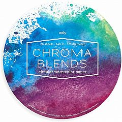 CHRCHROMA BLENDS CIRCULAR WATERCOLOR PAPER PAD