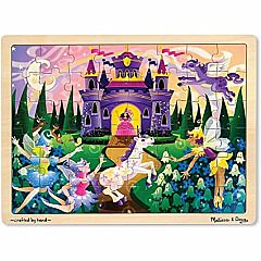 FAIRY FANTASY 48PC WOODEN PUZZLE