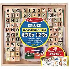 DELUXE ABCS 123S STAMP SET