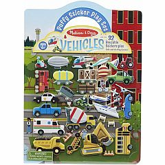 VEHICLES PUFFY STICKER PLAY SET