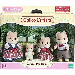 CALICO CARAMEL DOG FAMILY