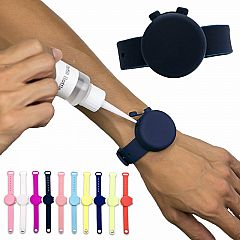 ADJUSTABLE HAND SANITIZER DISPENSER SILICONE  WRISTBAND
