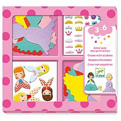 I LOVE PRINCESSES CREATE WITH STICKERS