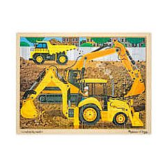 DIGGERS AT WORK 24PC WOODEN PUZZLE